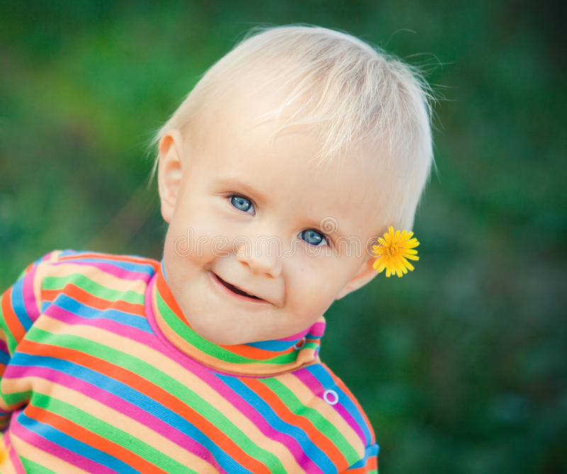 Download Small baby portrait stock image. Image of cheer, fair - 11000263