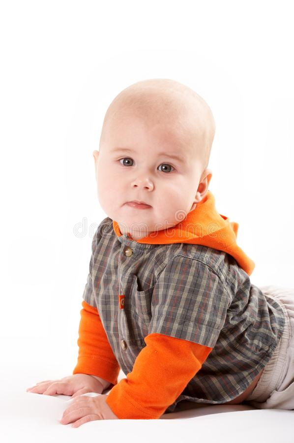 Small baby posing royalty free stock image