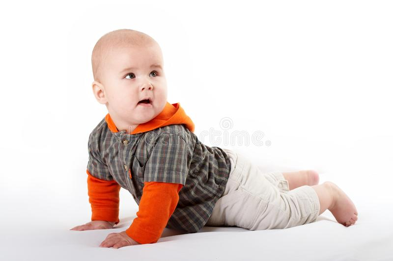 Small baby posing royalty free stock images