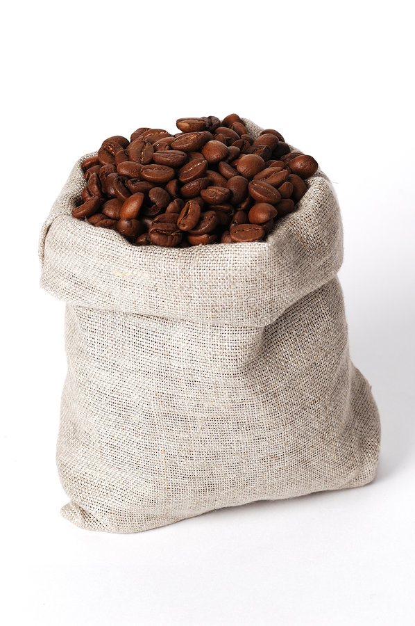 Download Small bag of coffee stock photo. Image of sack, coffee - 1709458