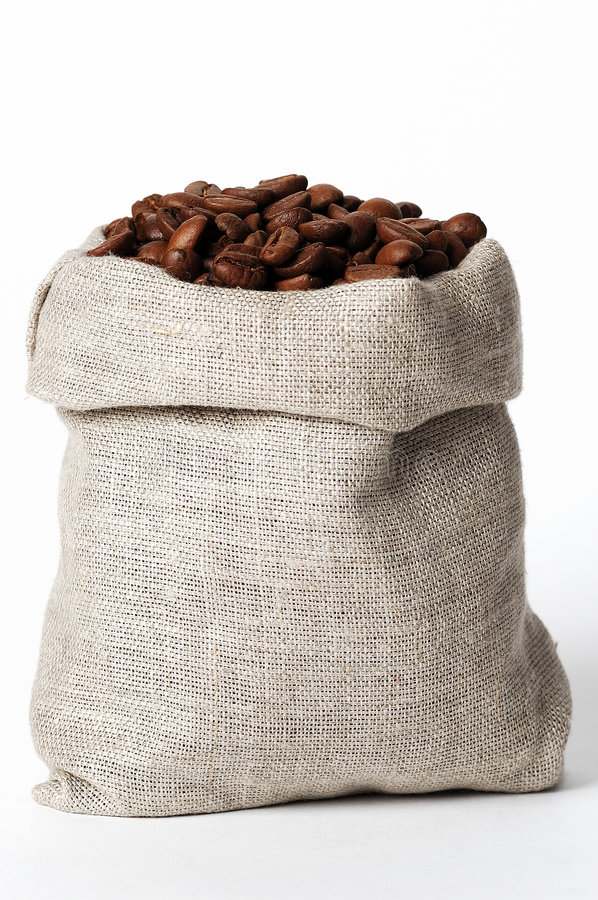 Download Small bag of coffee #2 stock photo. Image of fiber, sack - 1709462
