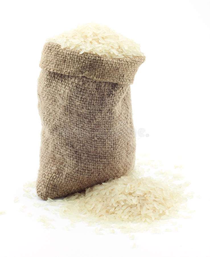 Download Small bag of rice stock image. Image of scattered, small - 14149315