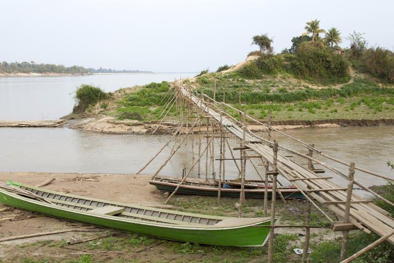 Small Bamboo Bridge Stock Photography