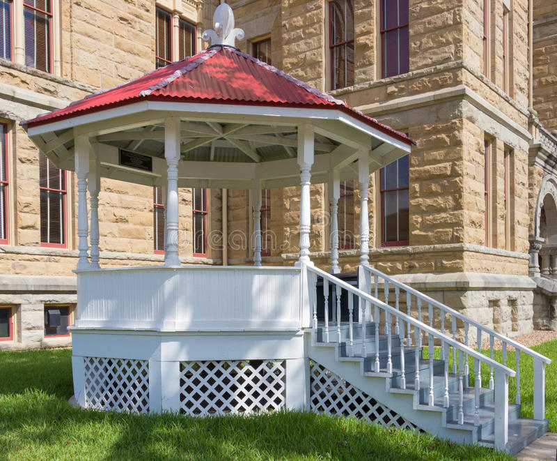 A small bandstand or gazebo royalty free stock image