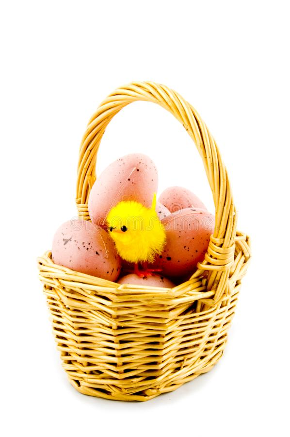 Download Small Basket With Eggs And A Eastern Chicken Stock Image - Image of eastern, white: 8931935