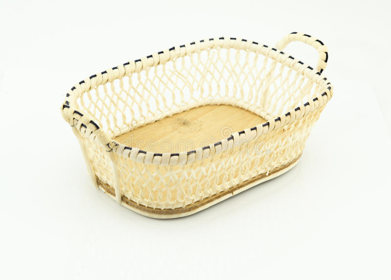 Small basket isolated on white background. Small basket on white background stock photos