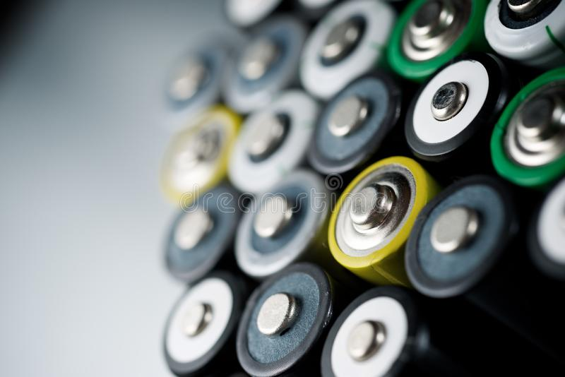 Small batteries view royalty free stock image