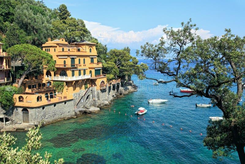 Small bay. Portofino, Italy. royalty free stock photo
