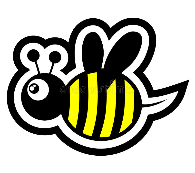 Small bee stock illustration