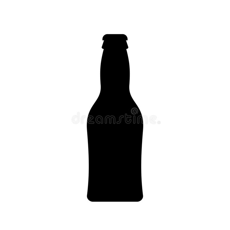 small beer bottle vector icon stock vector illustration of cartoon rh dreamstime com bottle vector silhouettes bottle vector photoshop
