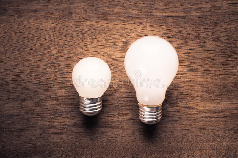 Small and Big Bulb stock image