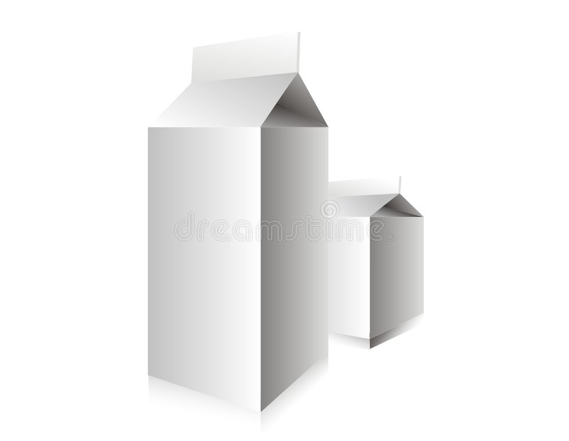 Small And Big Milk Box Royalty Free Stock Images