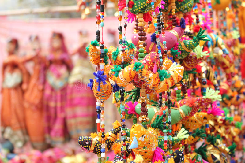 Small bird toy in dilli haat royalty free stock photo