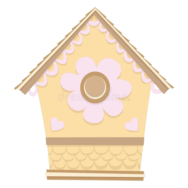 Download Small Birdhouse stock vector. Image of flower, blue, growth - 22916468