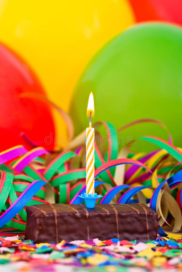 Small birthday cake royalty free stock image