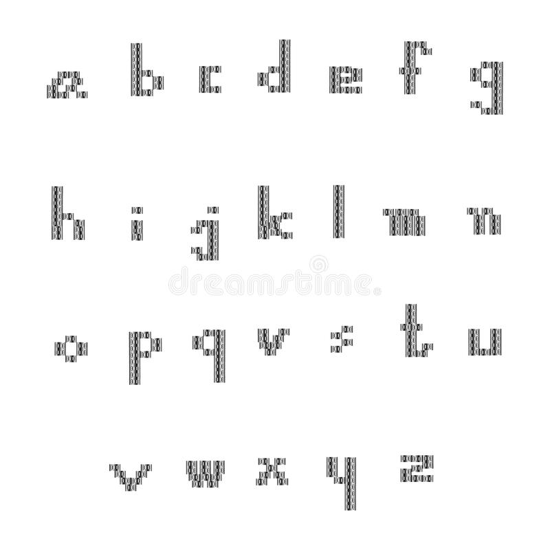 Small black font stock photos