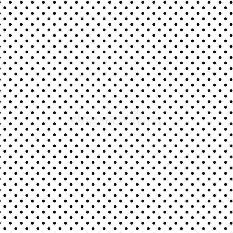 Small Black Polka Dots, White Background, Seamless Background royalty free illustration