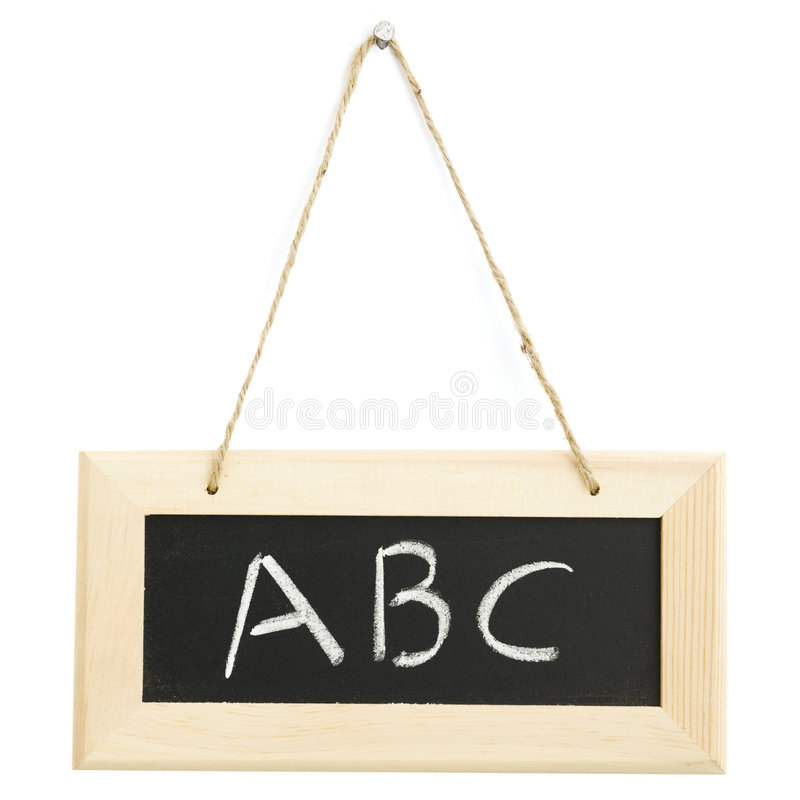 Download Small blackboard stock photo. Image of hanging, education - 5071860
