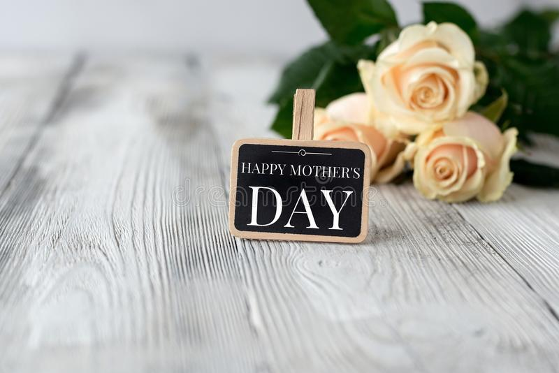 Small blackboard with Happy Mother's Day inscription royalty free stock photos