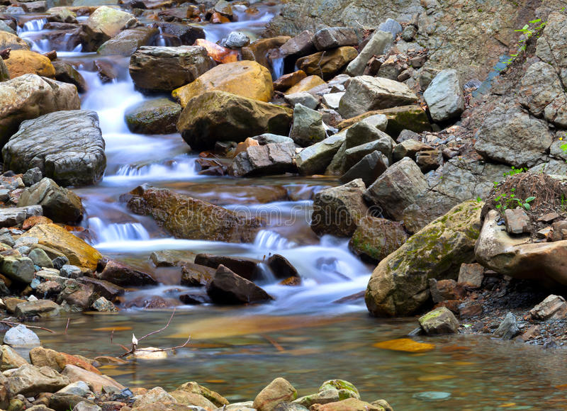 Download Small blue brook stock photo. Image of liquid, water - 20740140