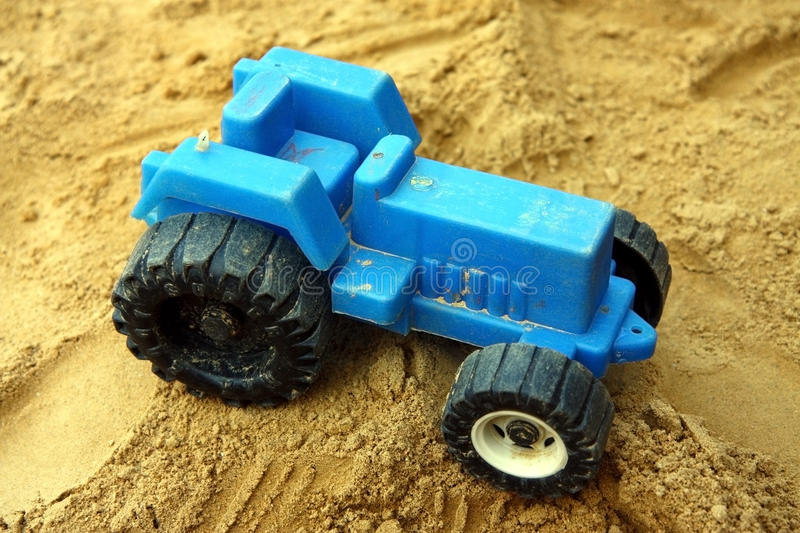 Download Small Blue Children Tractor Toy Stock Image - Image: 12819073