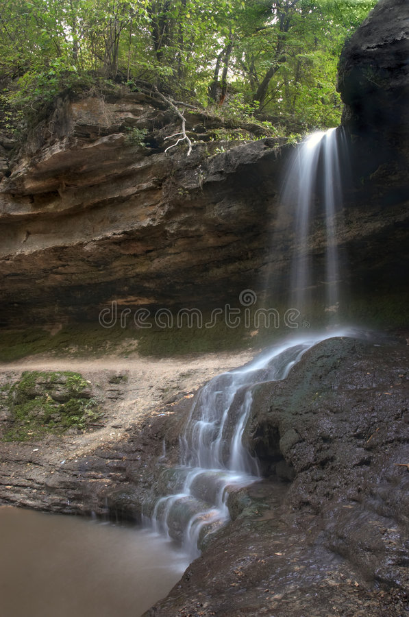 Small blurred waterfall royalty free stock photography