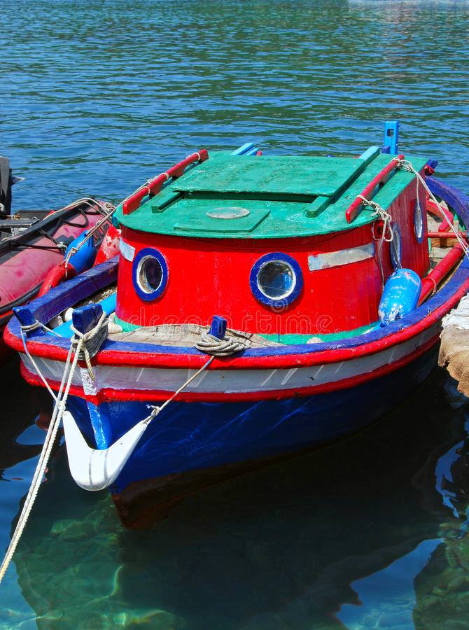 Small boat stock image