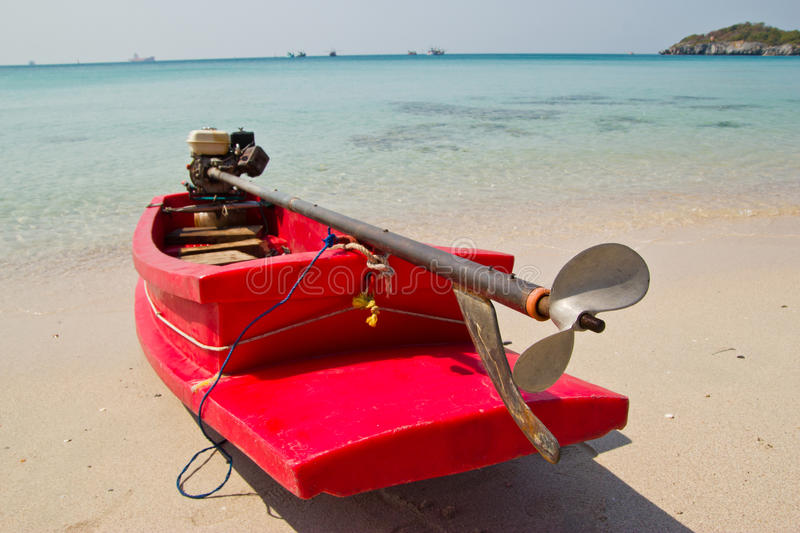 Download Small boat on beach stock image. Image of boat, calm - 37411611
