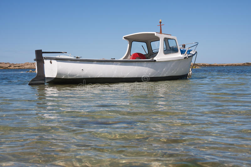 Download Small Boat In Shallow Water In Brittany France Stock Image - Image: 15916737