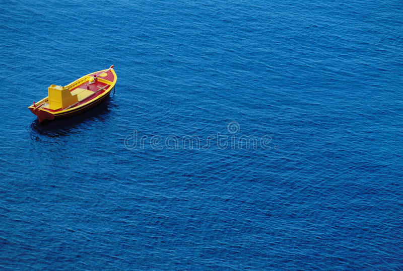 Small Boat On Water royalty free stock photos