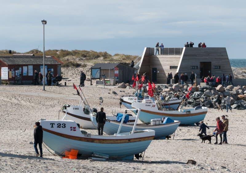 Small Boats And Observation Deck At Nørre Vorupør Free Public Domain Cc0 Image