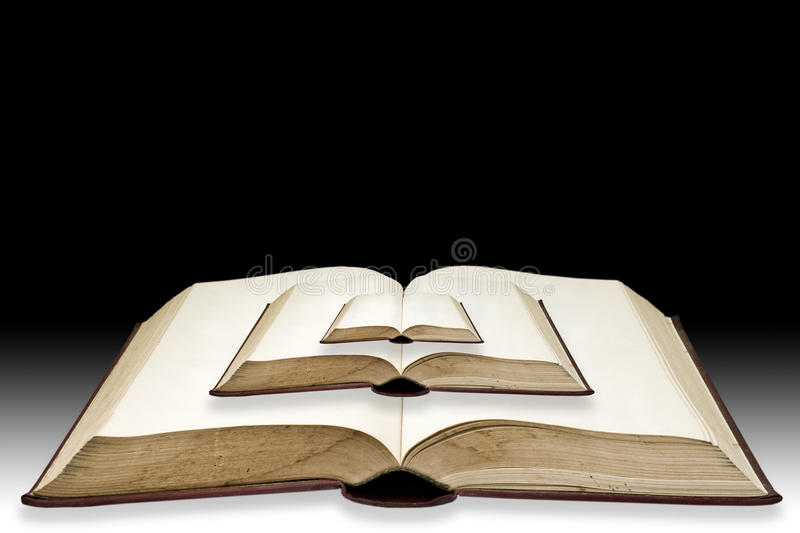 Small Book Put On Bigbook Royalty Free Stock Photography