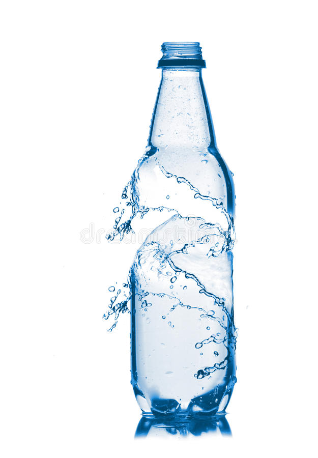 Download Small Bottle Of Water. Isolated On White Stock Photo - Image: 25096278