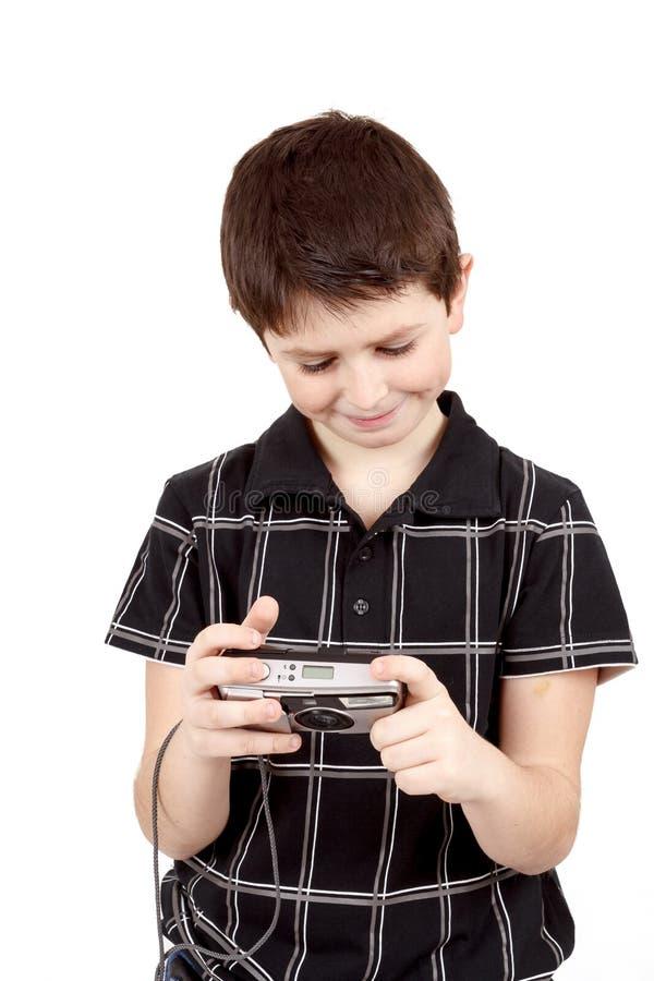 Download Small Boy Checking Analog Camera Settings Stock Image - Image: 33712649