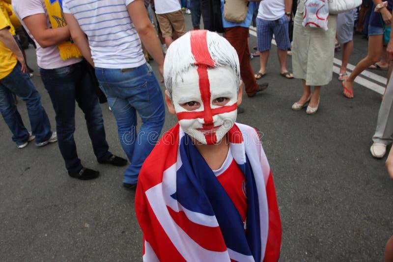 Small Boy - English Football Fan Editorial Photography