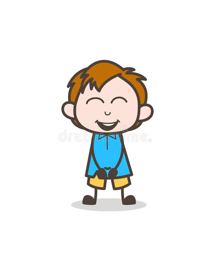 Small Boy Laughing Face - Cute Cartoon Kid Vector. Design royalty free illustration