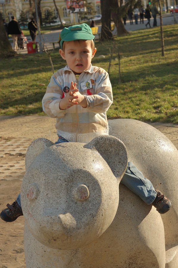 Download Small boy in park stock photo. Image of sculptured, fingers - 4722830
