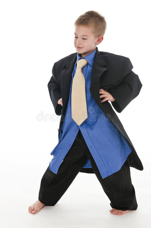 Download A Small Boy Pretending To Be A Businessman. Stock Image - Image: 15021985