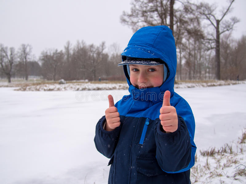 Download Small boy smiling stock image. Image of cold, frozen - 35676415