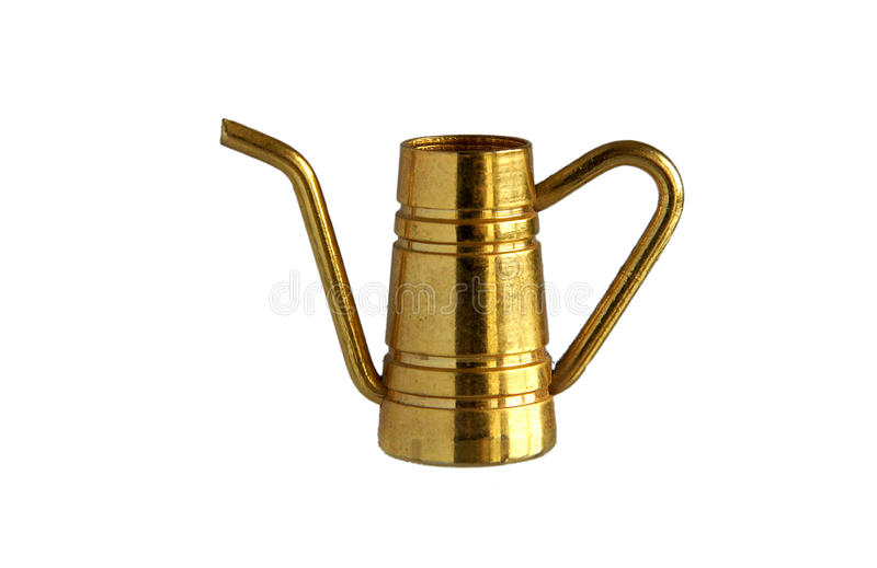Small brass coffee pot stock images