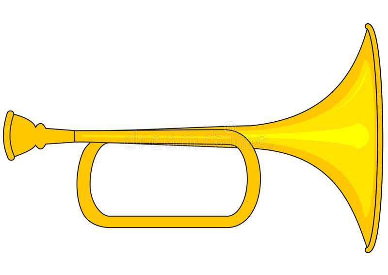 Small brass trumpet royalty free stock photography