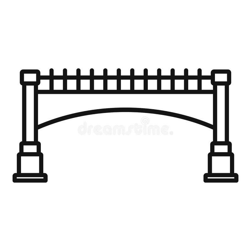 Small bridge icon, outline style vector illustration
