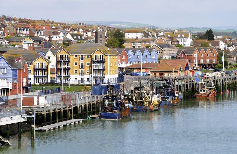 Small British fishing port royalty free stock photography