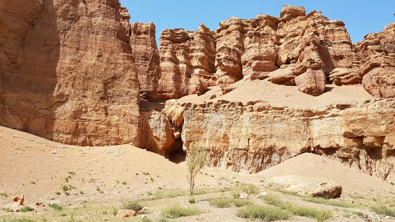 Charyn Canyon in Kasachstan stock photography