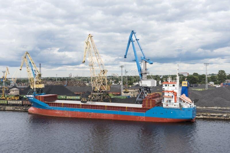 Small Bulk Carrier Ship Loading Coal Riga Editorial Photo - Image ...