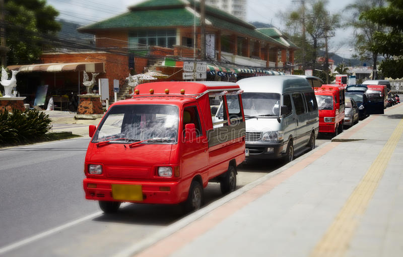 Small Buses Taxis In Thailand Stock Photos