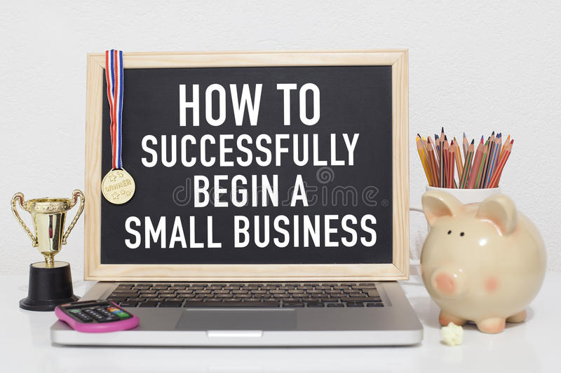 Small business. How to successfully begin a small business concept stock images