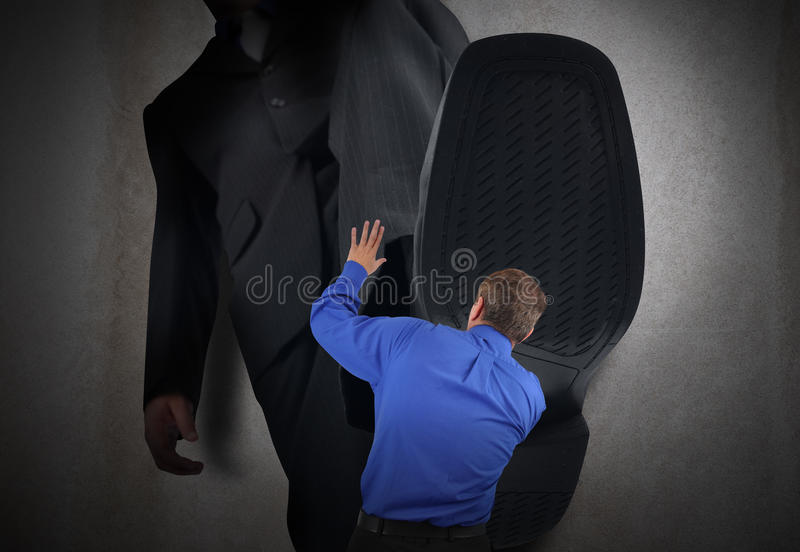 Download Small Business Man Fear Stepped On Stock Photo - Image: 27301394