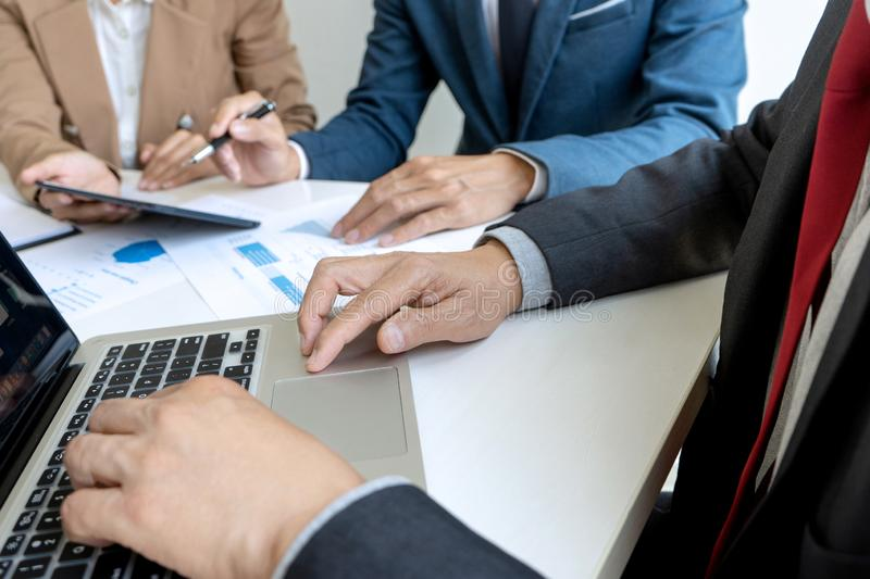 small business Meeting group stock image