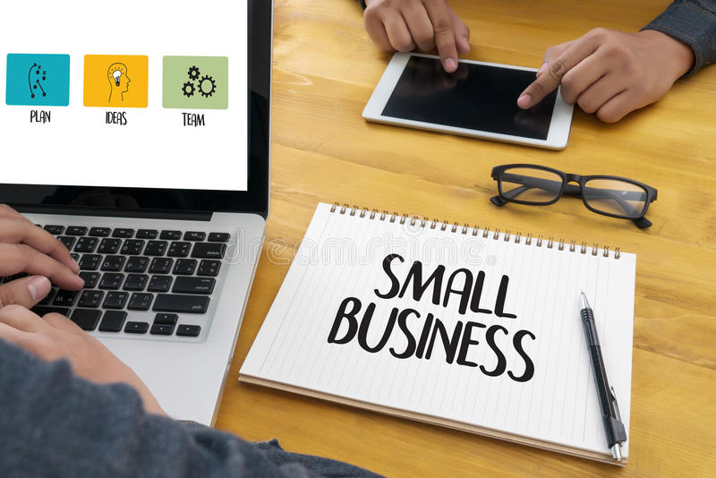 SMALL BUSINESS New Beginning Solution for Goals Start Your L stock image